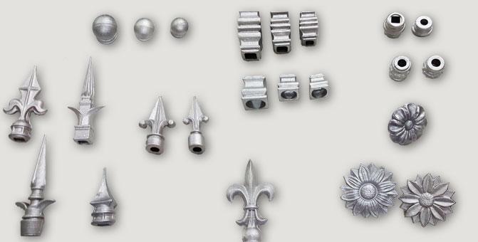 Herrajes San José • Nudos, anillos, rosetas y puntas de aluminio.